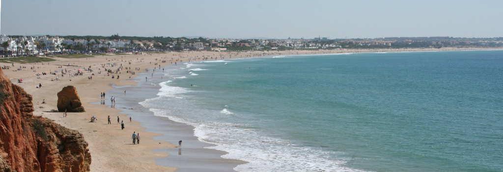 Playa de la Barrosa, primera pista