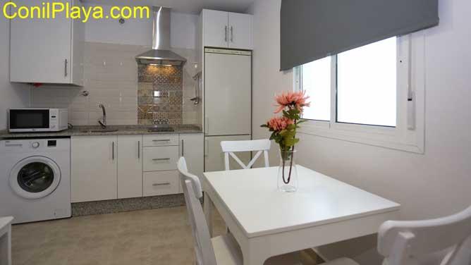 salón y la cocina