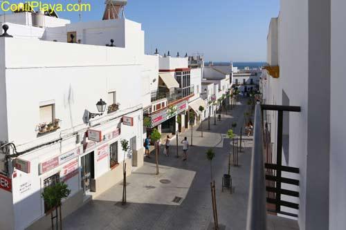 Calle San Sebastian. Vistas desde el apartamento.