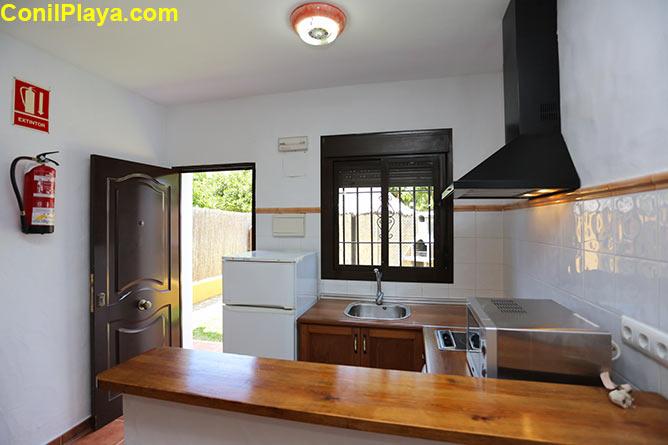 Vista superior del comedor y la cocina