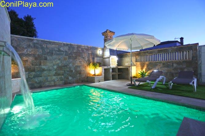 piscina luces