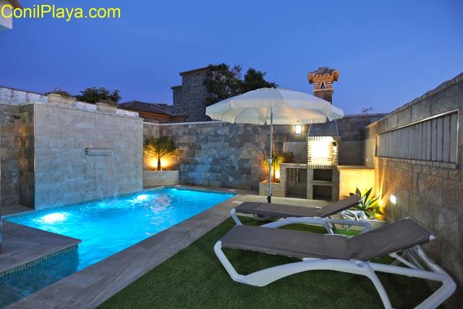 piscina luz