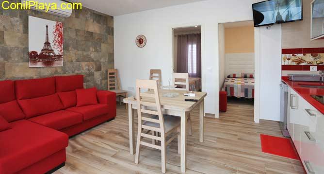 El salón del apartamento