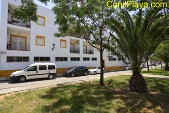 fachada de los apartamentos.