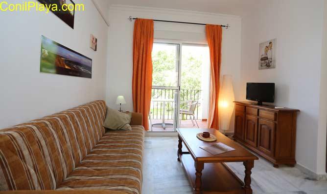 Salón del apartamento en Conil