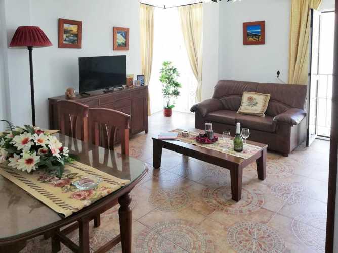 foto del salón del apartamento en Conil en alquiler