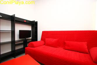 sofá del apartamento