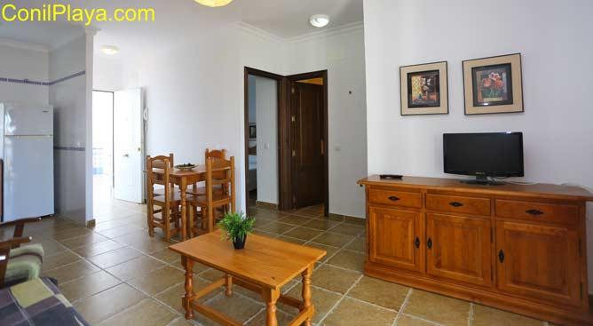 apartamento con television plana