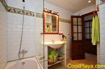 Bañera del cuarto de baño.