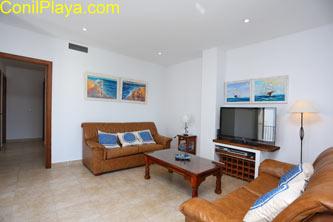 Apartamento en Conil, el Salón.