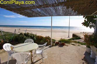 vista del apartamento en primera linea de playa