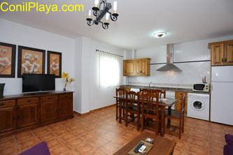 apartamento salón y cocina