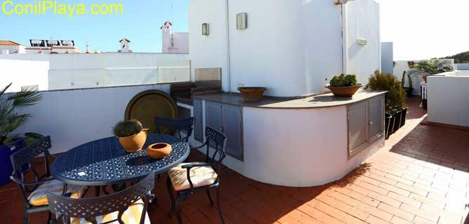 Terraza del apartamento con vistas al Palmar