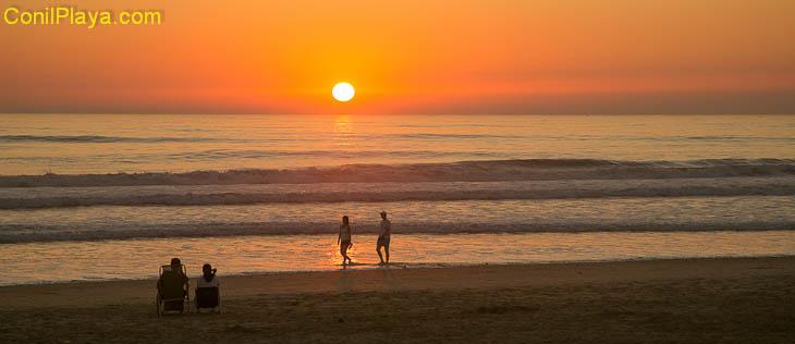 Playa de Conil, puesta de sol