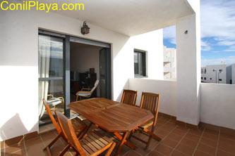 terraza del apartamento