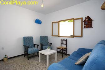 sala de estar junto a la terraza