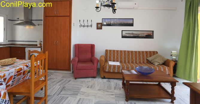 salón y sofás