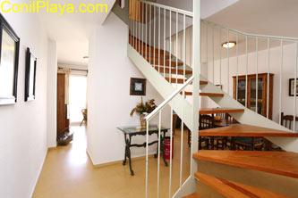 escaleras de la planta superior