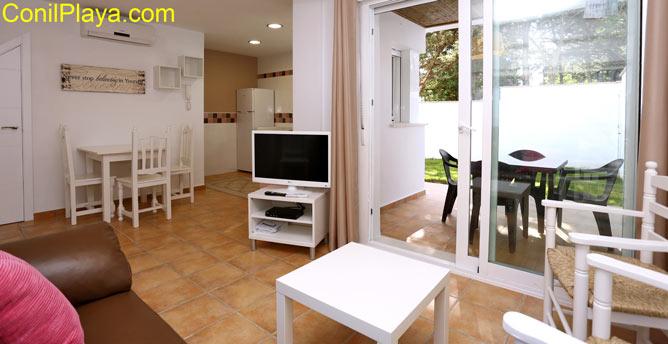 vista interior del apartamento en Conil