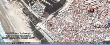 mapa de localización del apartamento.