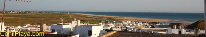 Vista a la playa de los Bateles