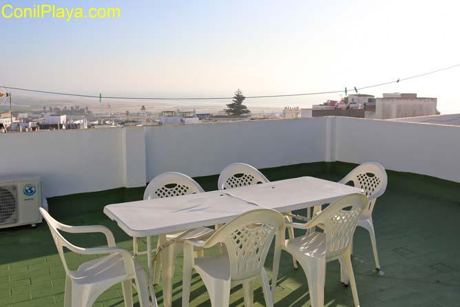 terraza con vistas a Conil