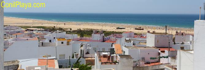 Vistas de la playa desde la azotea
