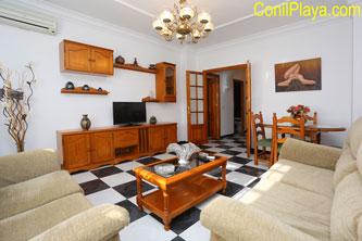 Salón del apartamento en Conil.