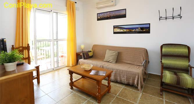 salón con aire acondicionado