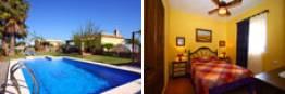 Alquiler casa rural en Conil, con piscina y junto a urbanización Roche.