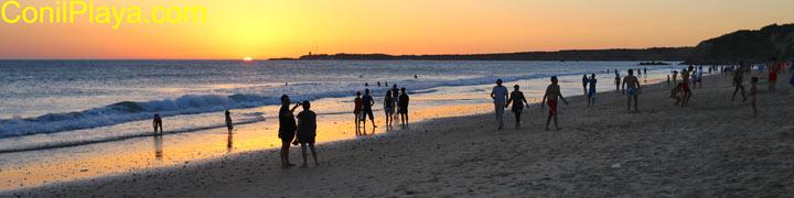 Playa de Conil, La Fontanilla. Puesta de Sol