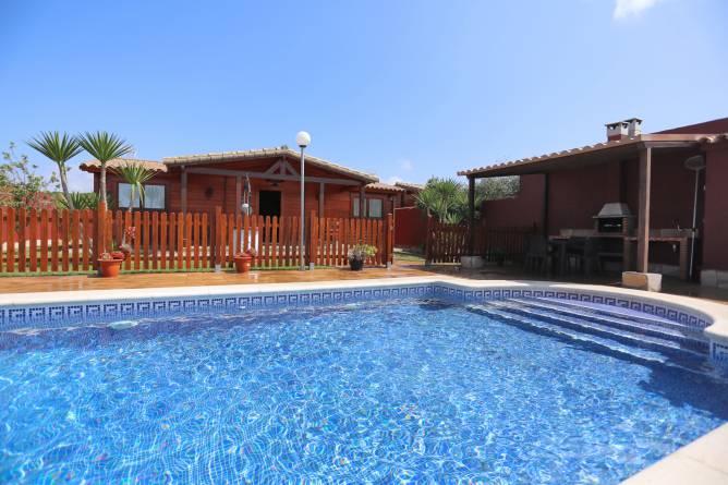 Chalet con piscina en Conil