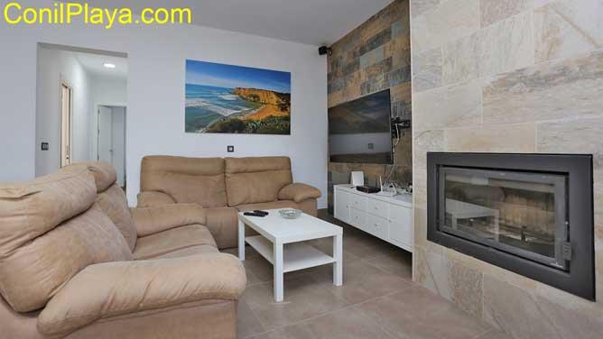 salon con sofa