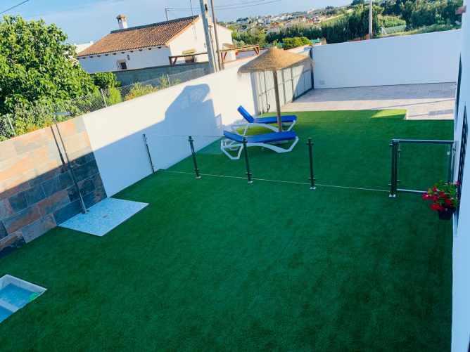 patio de la piscina