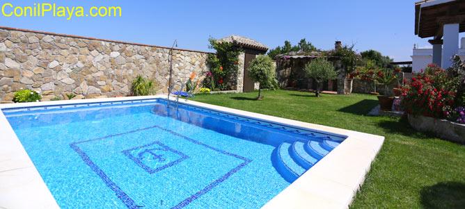 piscina del jardin