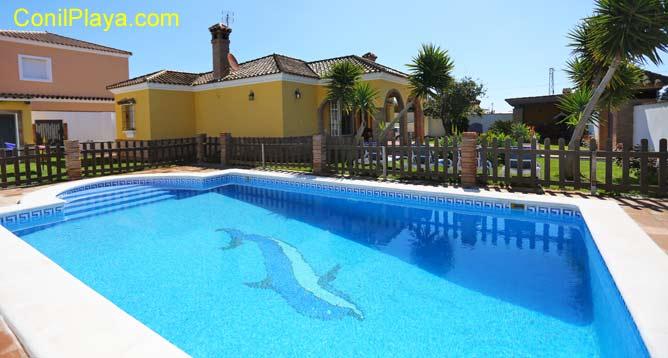casa en conil con piscina alquilada por particular