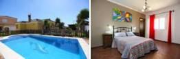 Ver fotos de la casa en alquiler con piscina en Conil, en la carretara de la Lobita y muy cerca de la Casa de Postas.