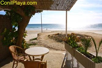 Terraza en la playa