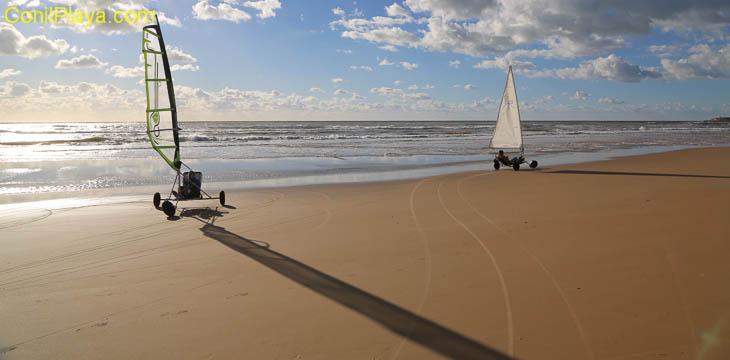 carrovela, windsurf sobre ruedas