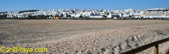Conil desde la playa