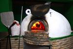 Pizza en horno de leña, En El Colorado
