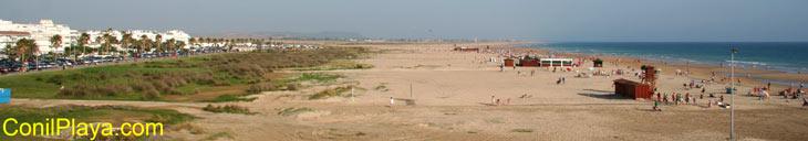 Playa de Conil el 20 de Junio de 2010