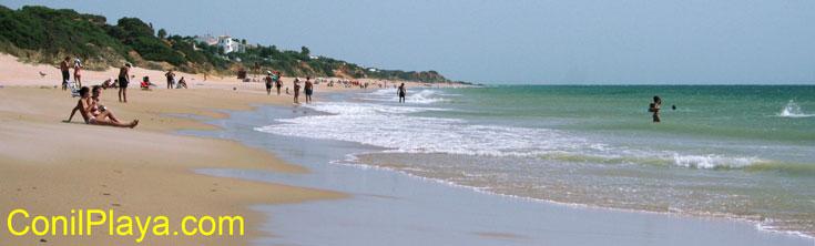 Playa de Roche, cerca de la playa de La Torre de El Puerco. Agosto de 2008.