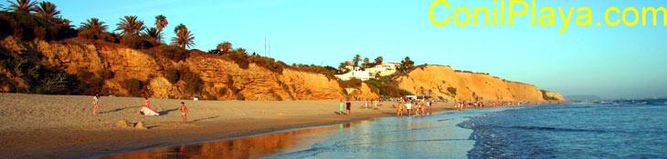 Playa de la Fuente del Gallo a finales de Julio de 2008.