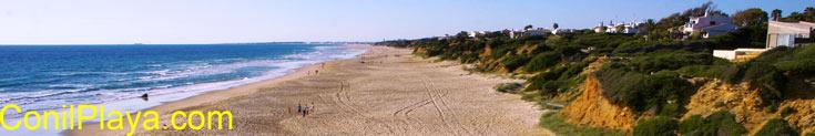 Playa de la Barrosa en Chiclana de la Frontera, provincia de Cádiz, Andalucia.