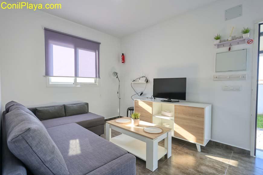 Salón del apartamento en El Palmar cerca de la playa.