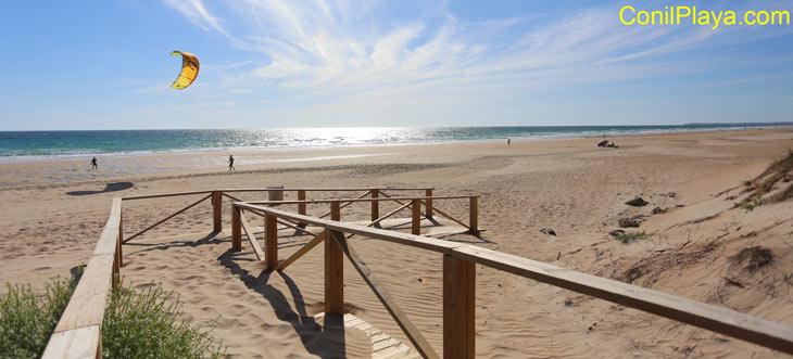 playa del palmar en Vejer de La Frontera, Cadiz