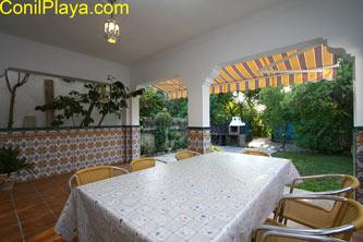 mesa del porche