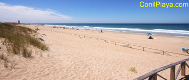 Playa del Palmar a la altura de donde se encuentra la casa.