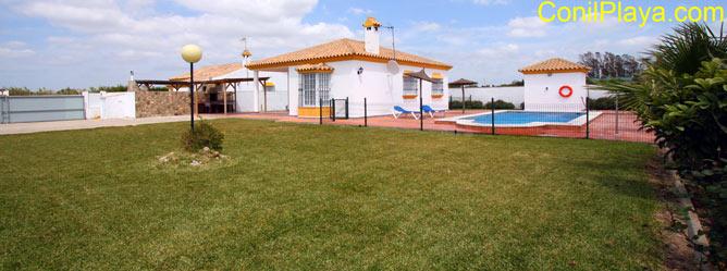 Vista general de la casa en El Palmar